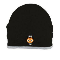 Шапка I hate you