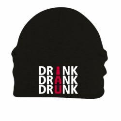 Шапка на флисе Drink Drank Drunk