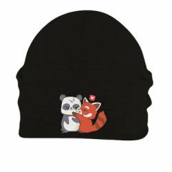 Шапка на флісі Panda and fire panda
