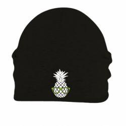 Шапка на флисе Pineapple with glasses