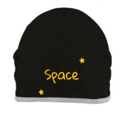 Шапка Space: Letters and Stars Print