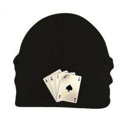 Шапка на флисе 4 cards - FatLine