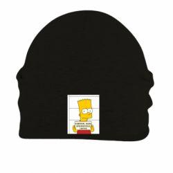 Шапка на флисе Барт в тюряге - FatLine