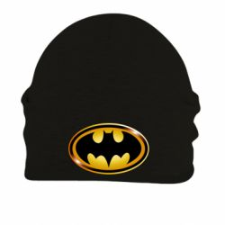 Шапка на флисе Batman logo Gold
