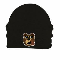 Шапка на флисе Bear sticker