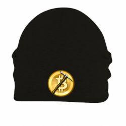 Шапка на флісі Bitcoin Hammer
