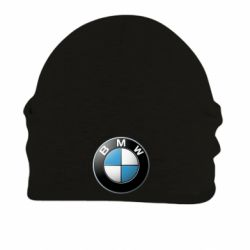 Шапка на флисе BMW Logo 3D - FatLine
