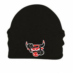 Шапка на флисе Chicago Bulls бык - FatLine