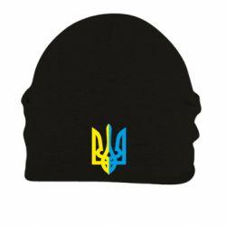 Шапка на флисе Двокольоровий герб України - FatLine
