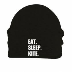 Шапка на флісі Eat, sleep, kite