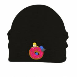 Шапка на флисе Гомер и Пончик - FatLine