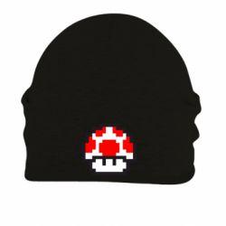 Шапка на флисе Гриб Марио в пикселях