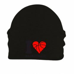 Шапка на флисе I love basketball