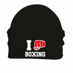 Шапка на флисе I love boxing - FatLine