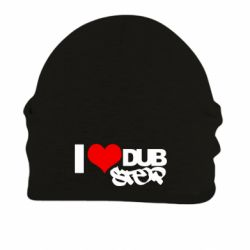 Шапка на флисе I love Dub Step