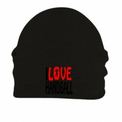 Шапка на флисе I love handball 3 - FatLine