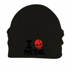 Шапка на флисе I love metal - FatLine
