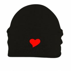 Шапка на флисе I love MSC - FatLine