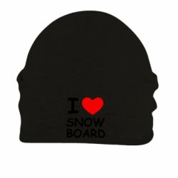 Шапка на флисе I love Snow Board - FatLine