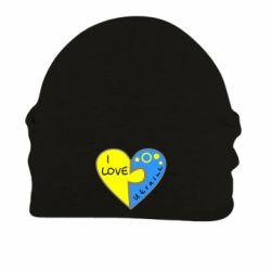 Шапка на флисе I love Ukraine пазлы - FatLine