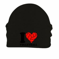 Шапка на флисе I love volleyball - FatLine