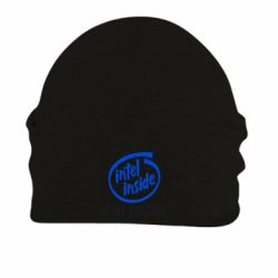 Шапка на флисе Intel inside, idiot outside