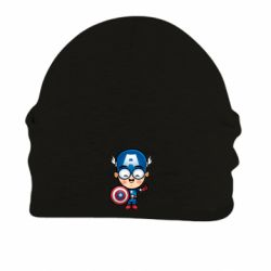 Шапка на флисе Маленький Капитан Америка - FatLine