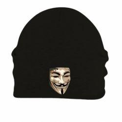Купить V значит Vendetta, Шапка на флисе Маска Вендетта, FatLine