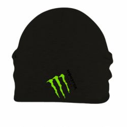 Шапка на флисе Monster Energy под наклоном