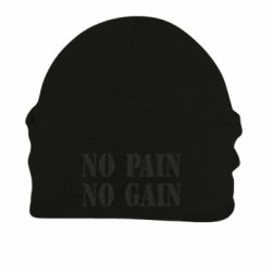 Шапка на флисе No pain no gain logo - FatLine