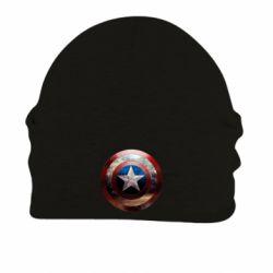 Шапка на флисе Потрескавшийся щит Капитана Америка - FatLine