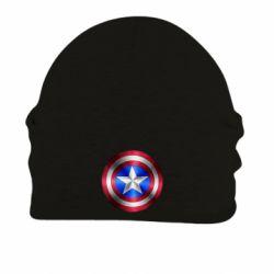 Шапка на флисе Щит Капитана Америка - FatLine