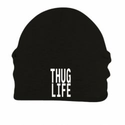 Шапка на флисе thug life - FatLine