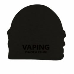 Шапка на флисе Vaping is not a crime - FatLine