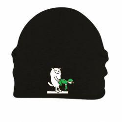 Шапка на флисе Вежливый кот - FatLine
