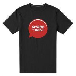 Мужская стрейчевая футболка Share the best