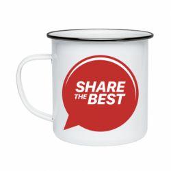 Кружка эмалированная Share the best