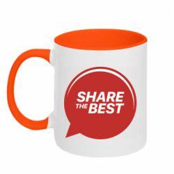 Кружка двухцветная 320ml Share the best