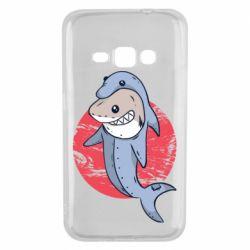 Чехол для Samsung J1 2016 Shark or dolphin