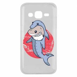 Чехол для Samsung J2 2015 Shark or dolphin