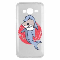 Чехол для Samsung J3 2016 Shark or dolphin