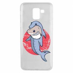 Чехол для Samsung J6 Shark or dolphin