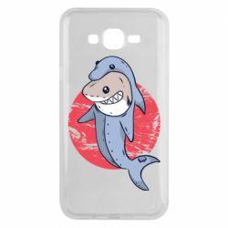 Чехол для Samsung J7 2015 Shark or dolphin