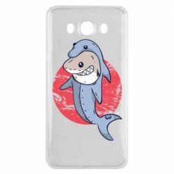 Чехол для Samsung J7 2016 Shark or dolphin
