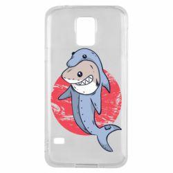 Чехол для Samsung S5 Shark or dolphin