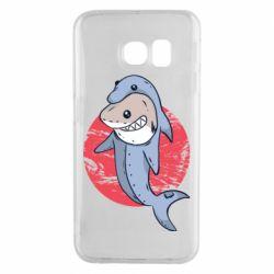 Чехол для Samsung S6 EDGE Shark or dolphin