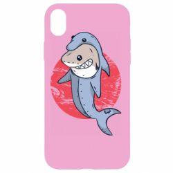 Чехол для iPhone XR Shark or dolphin
