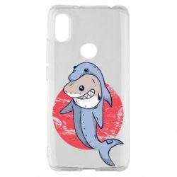 Чехол для Xiaomi Redmi S2 Shark or dolphin