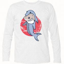 Футболка с длинным рукавом Shark or dolphin