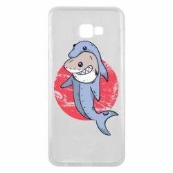 Чехол для Samsung J4 Plus 2018 Shark or dolphin